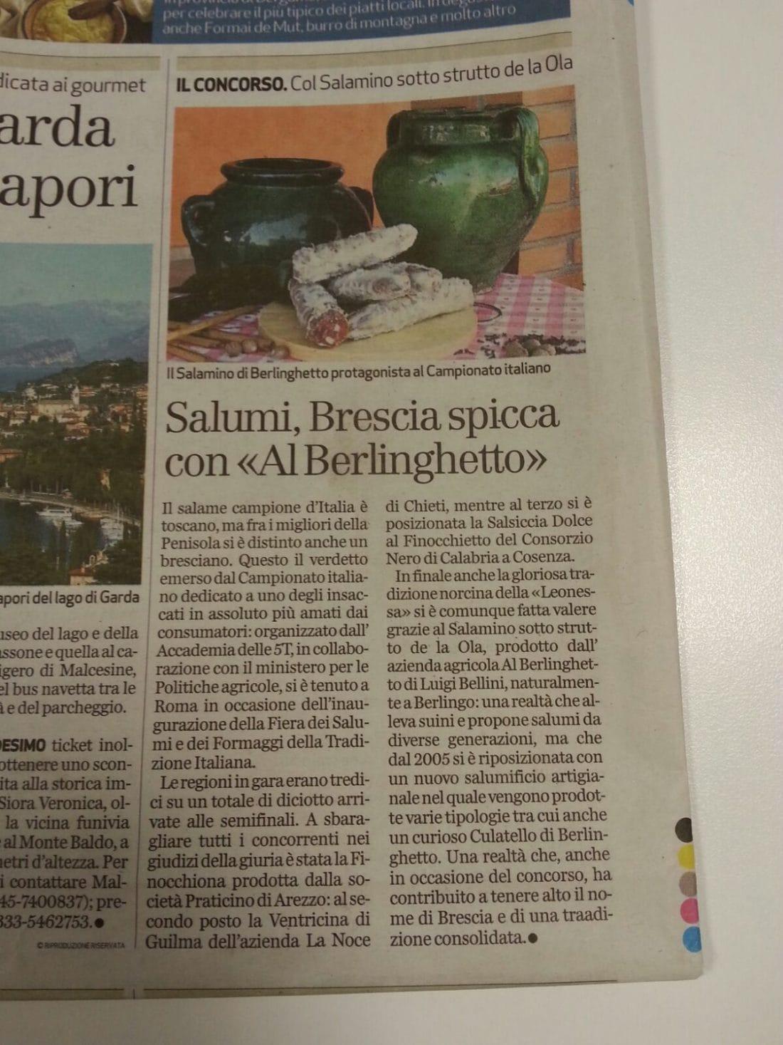 articolo premiati per i migliori salumi d'italia