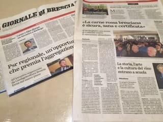 articolo giornale di brescia coldiretti in difesa della carne bresciana