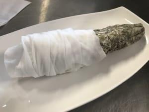 come si pela il salame